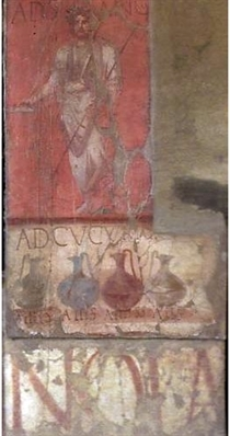 Fresco in Herculaneum